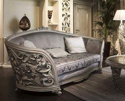 handmade Wood Vintage Sofa Set, For Home, Living Room