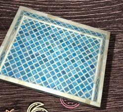 Moroccon Style Wood Tray- Decorative item