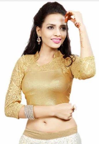 149179607c23c Golden Color Party Wear Designer Blouse