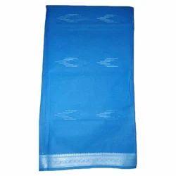 Blue Cotton Blue Saree