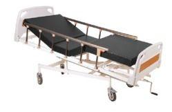 标准钢白色手动ICU床,尺寸:72x36x24