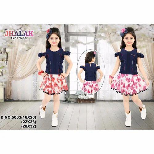 Kids Skirt Top Designer Kids Skirt Top Manufacturer From Kolkata