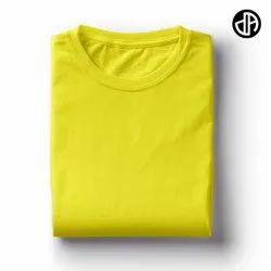 Plain Yellow 180gsm Cotton T Shirt
