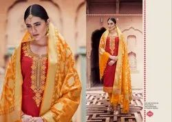Banarasi Chanderi Silk Unstitched Material for Women