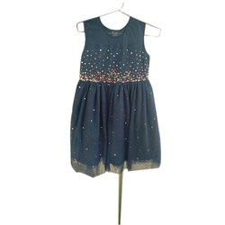 Party Wear Kids Embroidery Frock, Packaging Type: Packet