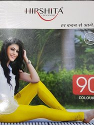 Plain Hirshita Gold Churidar/Ankel Leggings, Size: Free