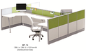 Aluminium Modular Office Furniture, Dimensions: 1200 X 1200 X 1000 Mm
