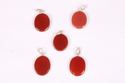 Red Onyx Oval Shape Smooth Cut Pendant,Gift For Women