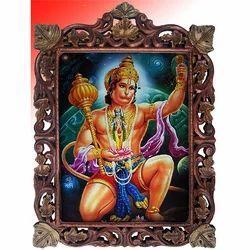 Hanuman Ji Gem Stone Painting