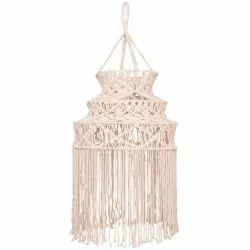 Macrame Chandeliers Lighting Lampshade Hanging Large Chandelier