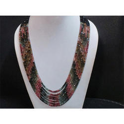 Multi Tourmaline Gemstone Beaded Necklace