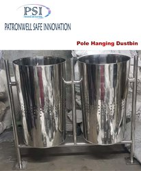 SS Pole Hanging Twin Dustbin
