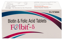 Folic Acid 5mg, Biotin 5mg ( Folbit - 5) Tablet