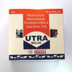 Nitrofurazone Metronidazole Providone Iodine Urea Bolus