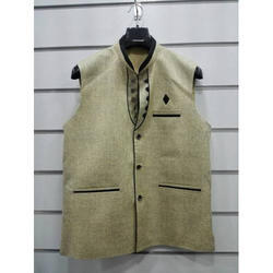 Cotton, Polyester Casual Men Formal Waistcoat