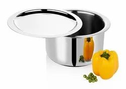 SET Stainless Steel Triply Tope W/Lid, For Home, Size: Various