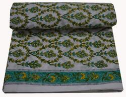 Hand Block Printed 100 % Cotton Fabric Sanganeri Print