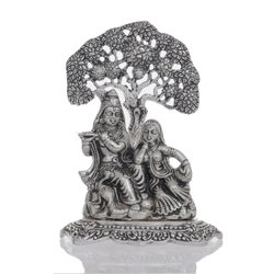 Silver Plated Radha Krishna