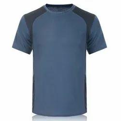 Plain Half Sleeve Polyester Round neck T- Shirts