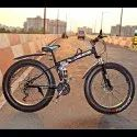 LAND ROVER Black Fat Tyre Folding Cycle