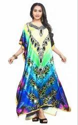 Long Ankle Length Women Digital Printed Kaftan