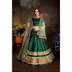 Green Bridal Lehenga Choli
