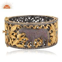 Handmade Pave Diamond Indian Traditional Bangle