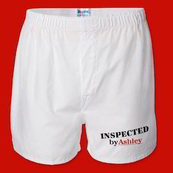 Mens White Boxers Shorts