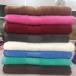 Cotton Plain Zero Twist Towels, For Home And Hotel, 450-550 GSM