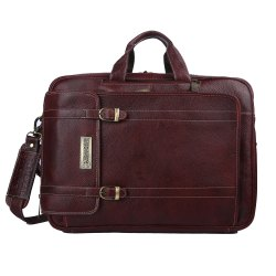 Hammonds Flycatcher Genuine Leather 3 In 1 Office Bag