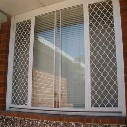 Modern White Grill Design Aluminum Window, for Office, Rs ...