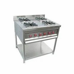 Stainless Steel 4 Burner Cooking Range