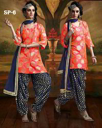 Trendy Party Wear Patiala Suit