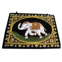 Black Hh Embroidered Stylish Wall Hanging