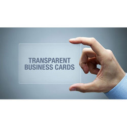Transparent Business Card Manufacturers Suppliers Wholesalers