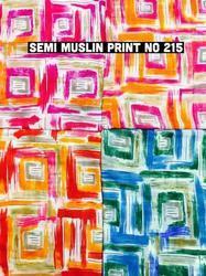 Semi Muslin Garment Print Fabric