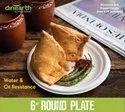6 inch  Round Plate  Sugarcane Bagasse