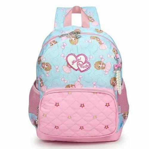 2696ed76f407 Water Blue   Pink Reelay Mee Kids School Backpacks