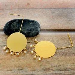 Brass Golden Earrings