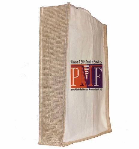 4e0d46a826f9 Print My Fashion Beige Custom Printed Canvas Tote Bags