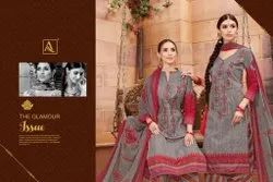 Casual Wear INDIAN Punjabi Girl Ladise Suits (Pure Cambric Cotton Digital Style Print )
