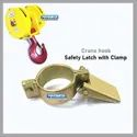 Crane Hook Safety Latch With Clamp