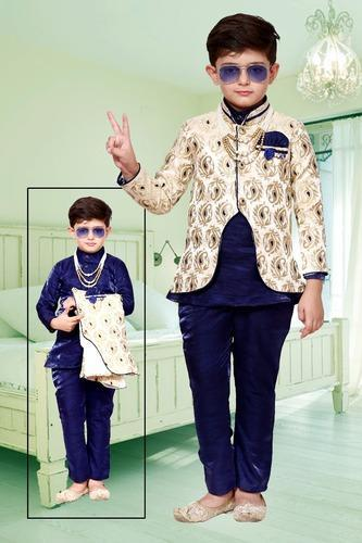 a446f6d0b7 Blue And White Wedding Wear Kids Boys Blue Wedding Sherwani, Rs 650 ...