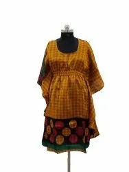 Vintage Silk Boho Dress