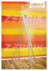 Aluminum Self Supported Ladder with Pipe Steps