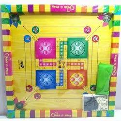 Kids Carrom Board 6in1Game (Cardboard) no 4, Size: 25x25