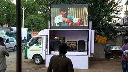 Video Mild Steel Hydraulic LED Van For Advertising, Vehicle Model: Tata Magic, Outdoor