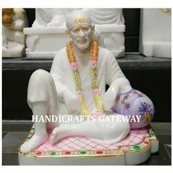 Beautiful Marble Dwarkamai Sai Baba God Statue