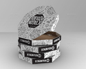 Corrugated crate Pizza paper Box