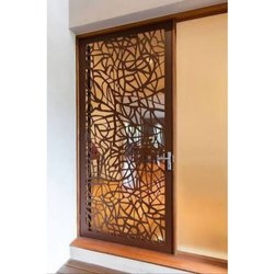 Laser Cutting Wooden Door Design